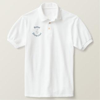 Diretor pólo da banda camiseta bordada polo