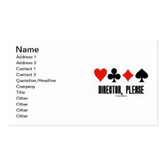 Diretor, por favor (jogo da ponte de quatro ternos modelo de cartões de visita