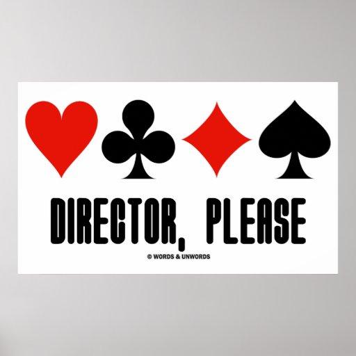 Diretor, por favor (jogo da ponte de quatro ternos pôsteres