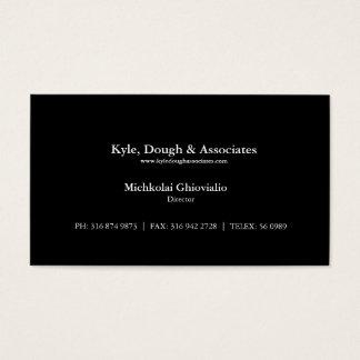 Diretor preto básico cartão de visita da empresa