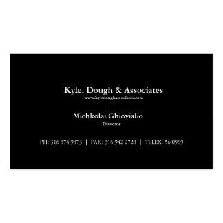 Diretor preto básico cartão de visita da empresa d