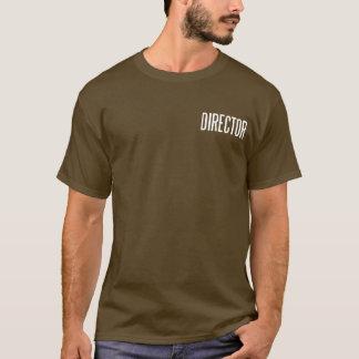 Diretor T.Shirt básico clássico (marrom) Camiseta