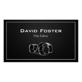 Diretor video do cortador do editor do filme cartão de visita