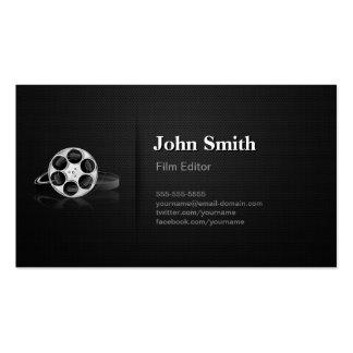 Diretor video profissional do cortador do editor d cartão de visita