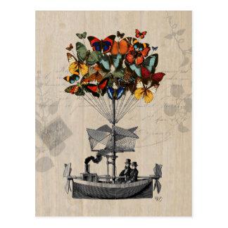 Dirigível 2 da borboleta cartão postal