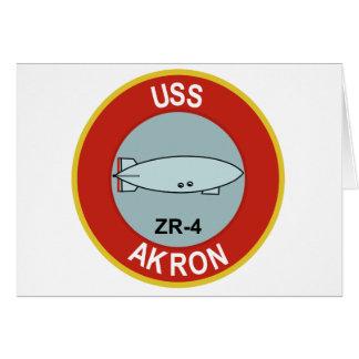 DIRIGÍVEL RÍGIDO DA CLASSE DE USS AKRON ZR-4 CARTÃO