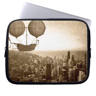 Dirigível sobre Chicago Capa De Computador Notebook