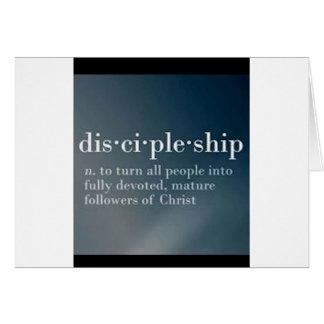 Discipulado Cartão Comemorativo