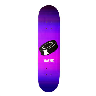 Disco de hóquei; Azul violeta e magenta vibrantes Shape De Skate 20,6cm