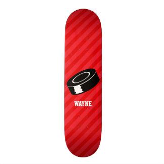 Disco de hóquei; Escarlate das listras do vermelho Shape De Skate 18,1cm