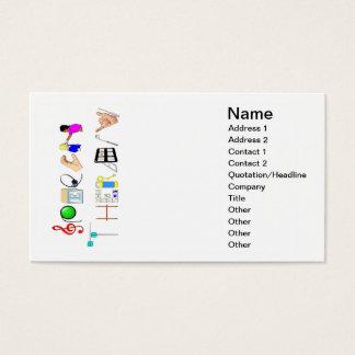 Discurso no cartão de visita do trabalho