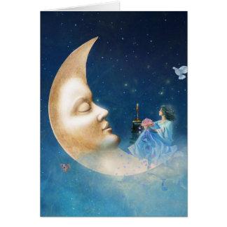 Discussão com cartão da lua