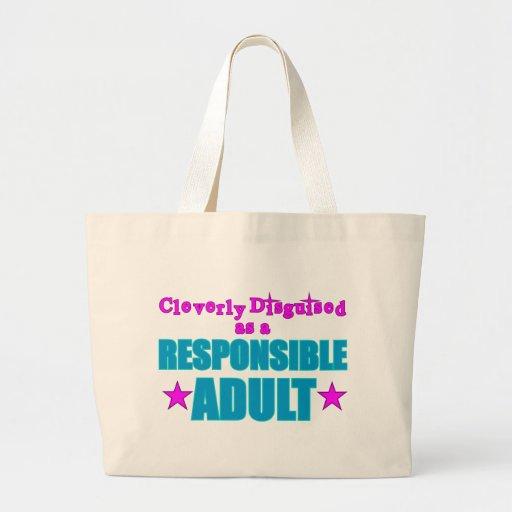Disfarçado inteligente como um adulto responsável bolsas de lona