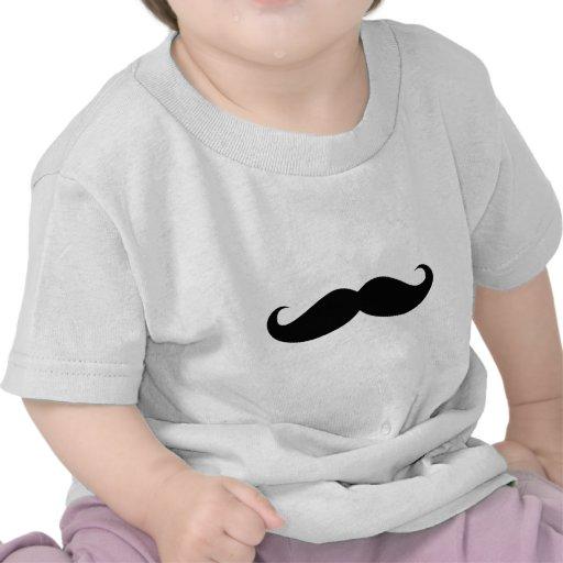 Disfarce do bigode engraçado camisetas