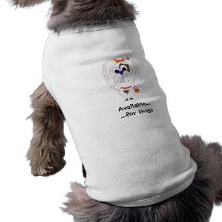Disponível para abraços… camisa sem mangas para cachorro