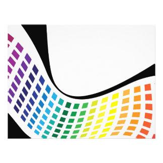 Disposição abstrata dos quadrados ondulados do arc panfletos