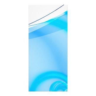 Disposição azul abstrata do Fractal 10.16 X 22.86cm Panfleto