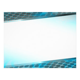 Disposição azul abstrata panfleto
