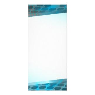 Disposição azul abstrata planfeto informativo colorido