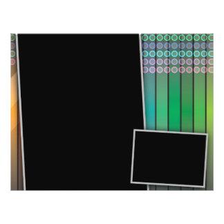 Disposição de página Funky do arco-íris Panfletos Personalizado