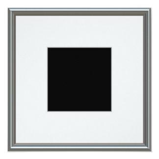 disposição de prata da moldura para retrato convite quadrado 13.35 x 13.35cm