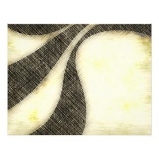 Disposição do Sepia do Grunge de Swirly Modelo De Panfleto