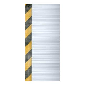Disposição escovada da construção do perigo do met 10.16 x 22.86cm panfleto