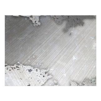 Disposição escovada gasta do metal (falso) flyer 21.59 x 27.94cm