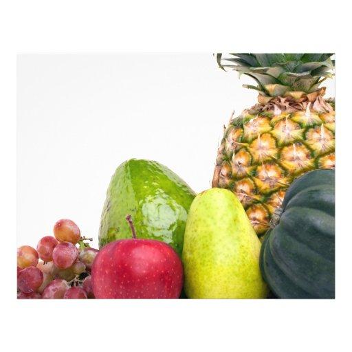 Disposição fresca das frutas e legumes panfletos personalizados