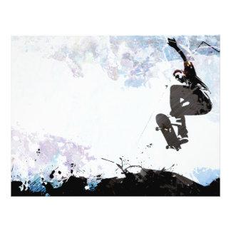 Disposição Skateboarding do Grunge Panfletos