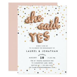 Disse o convite da festa de noivado de sim |