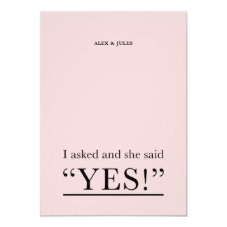 Disse sim o convite da festa de noivado do texto