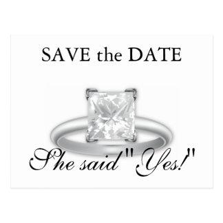 Disse sim! Salvar os cartões do anel de diamante