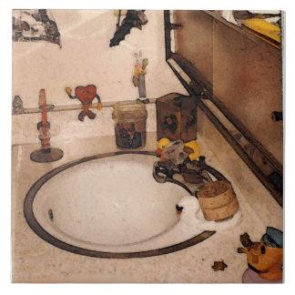 dissipador do banheiro dos pinkyjane azulejos