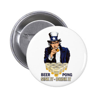 Dissipador ele bebida ele Abe Lincoln Bóton Redondo 5.08cm