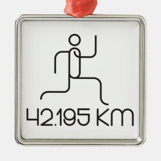 distância de uma maratona de 42,195 quilômetros ornamento de metal