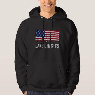 Distr da bandeira americana da skyline de Lake Moletom