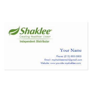 Distribuidor do independente de Shaklee Cartão De Visita