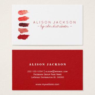 Distribuidor vermelho da cor do bordo das amostras cartão de visitas