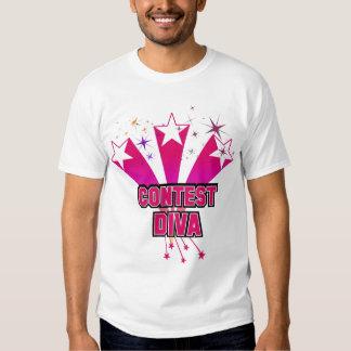 Diva da competição t-shirts