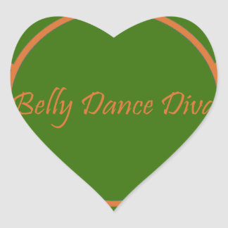 Diva da dança do ventre adesivo coração