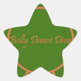 Diva da dança do ventre adesivo estrela