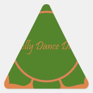 Diva da dança do ventre adesivos em forma de triângulo