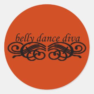 Diva da dança do ventre adesivos redondos