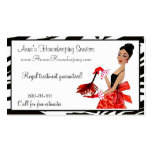 Diva da limpeza da casa/cartões de visitas cartão de visita