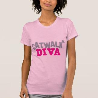 DIVA da PASSARELA com uma estrela pequena bonito T-shirts