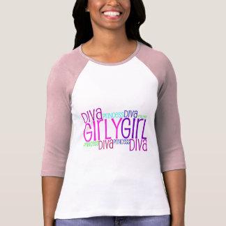 Diva feminino da menina camiseta