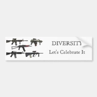 Diversidade da arma adesivo para carro