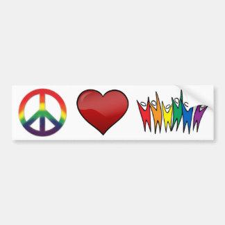 Diversidade do amor da paz adesivo para carro