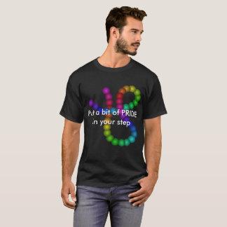 Diversidade LGBT do camiseta do arco-íris do piso